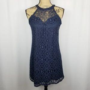 Monteau Lace Coctail Party Dress Higg Neck Medium